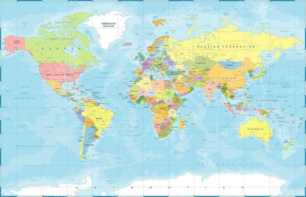 Magneticka Mapa Sveta Politicka Farebna